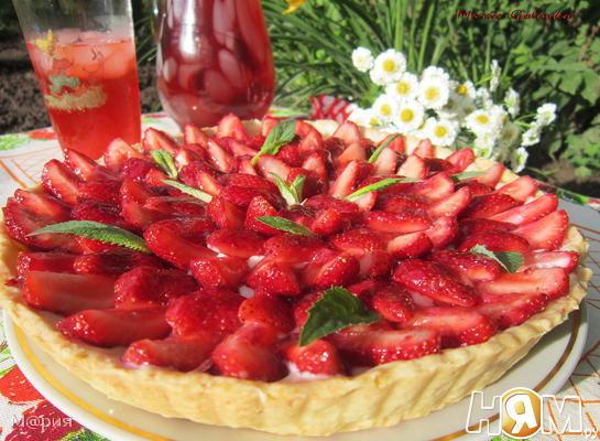 Рецепт Клубничный тарт с заварным кремом