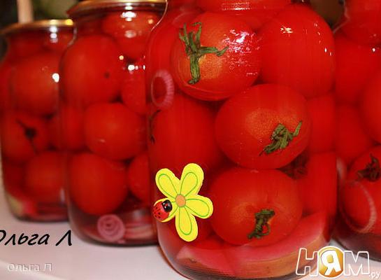 томаты маринованные  * РОЗОВЫЙ ВЕЧЕР *