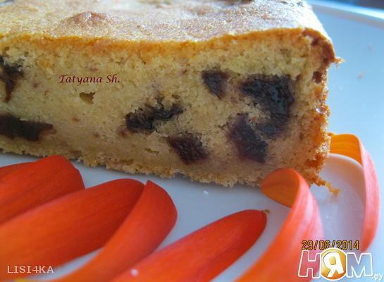 Творожный пирог с черносливом и цитрусовыми