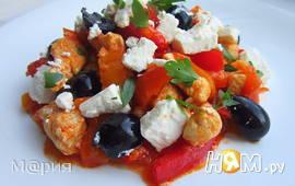 Курица с перцами в греческом стиле