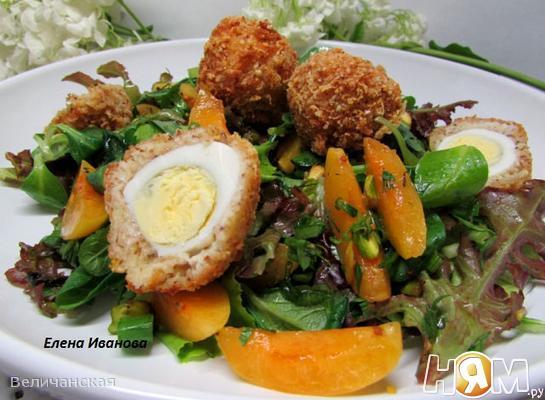 Летний салат с абрикосами