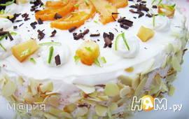 Персиково-сливочный торт