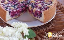 Заливной ягодный пирог