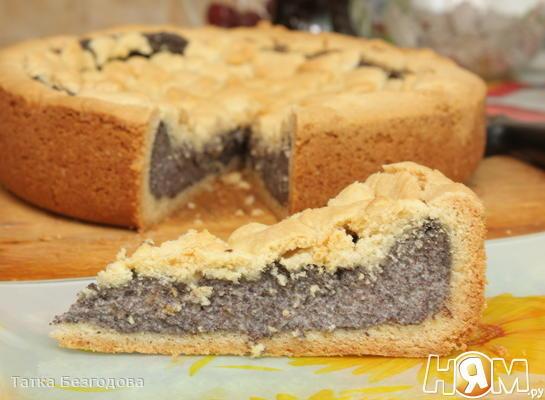 Маковый пирог с пудингом