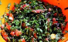 Салат из зелени по-Ливански