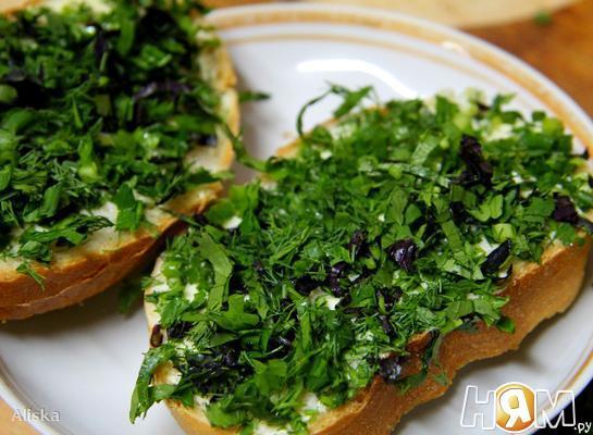 """Рецепт """"Зеленые"""" бутерброды"""