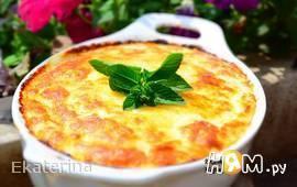 Кабачковое суфле под сырной корочкой