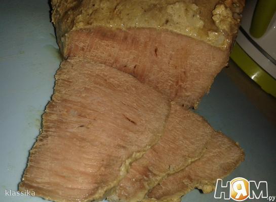 Рецепт Буженина с горчицей в духовке