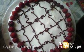 Торт Сметанное чудо с вишневой начинкой