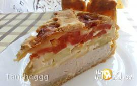 Куриный пирог с кабачками и помидорами