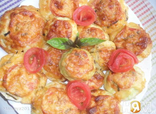 Рецепт Патиссоны, фаршированные курицей