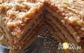Овсяный тортик без муки на сковороде
