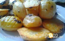 Запеченный картофель с базиликом и мятой