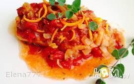 Филе рыбы под томатно-апельсиновым соусом