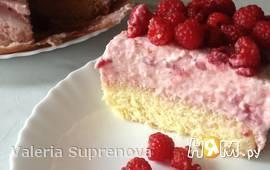 Йогуртовый малиновый торт