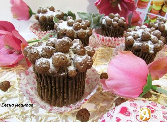 Кексы из мороженого с шоколадными шариками