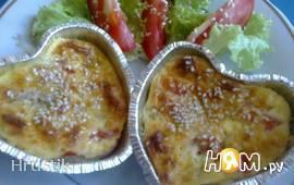 Творожные мини-запеканки с сыром и овощами