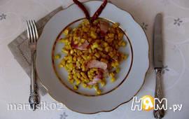 Кукуруза, жаренная с беконом