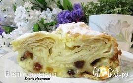 """""""Мятый"""" - творожный пирог с лавашом"""
