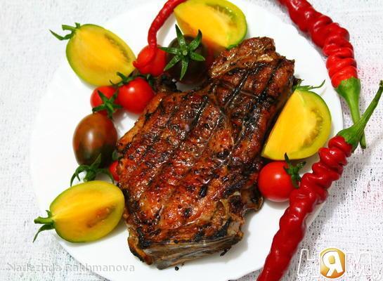 Рецепт Шашлык из свинины на косточке!!!