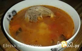 Суп из баранины с помидорами и рисом