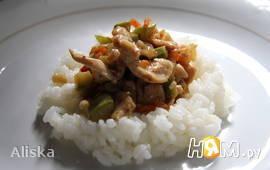 Курица с кабачками по-Китайски.