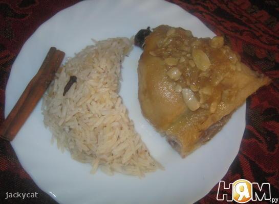 Курица, приготовленная в кокосовом молоке