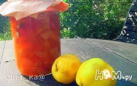 Яблочное варенье с миндалем