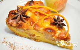 Ароматный яблочно-клубничный пирог с ирисками