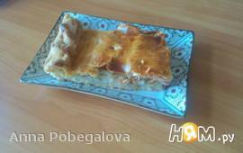 Нежный рыбный пирог с рисом