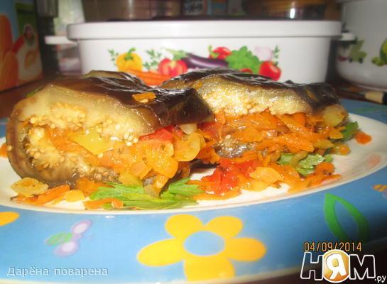 Баклажанчики с морковкой