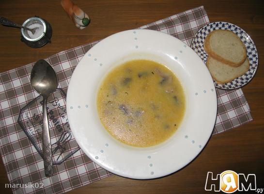 Тыквенный крем-суп с шампиньонами
