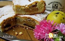 Сочный пирог с яблоками