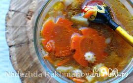 Суп с белыми грибами и пастой стеллине