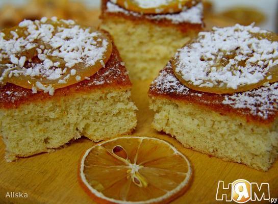 """Рецепт Лимонный пирог """"Капри"""""""