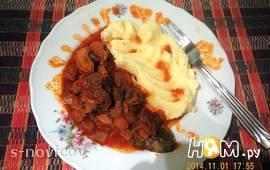 Мясо с кабачками и шампиньонами (в мультиварке)