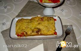 Баклажановый кекс с помидорами
