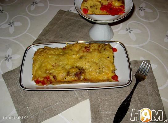 Рецепт Баклажановый кекс с помидорами