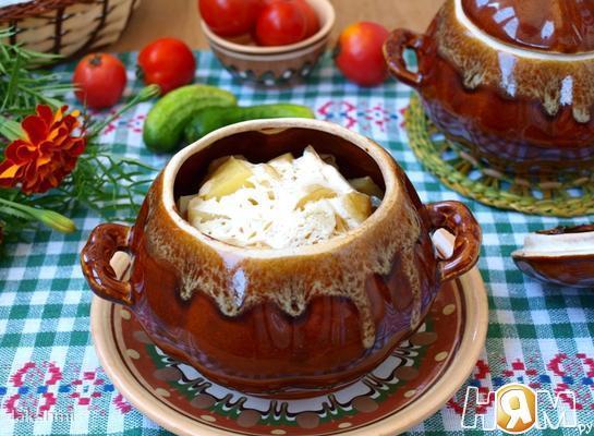 Рецепт Свинина в духовке с грибами и картофелем