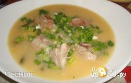 Гороховый суп с зеленой фасолью