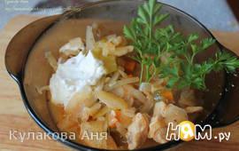 Солянка (тушеная капуста с мясом)