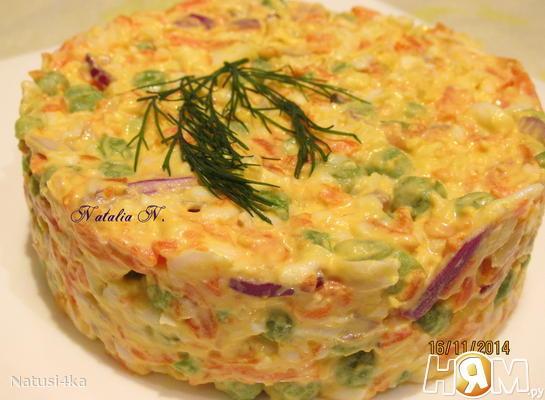 салат простой с яйцами и колбасой рецепт