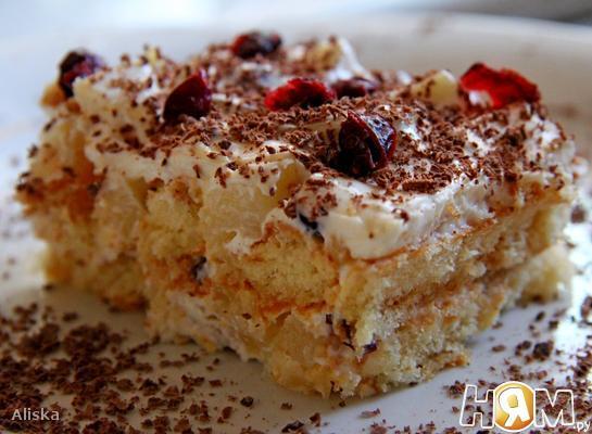 Торт из печенья савоярди.