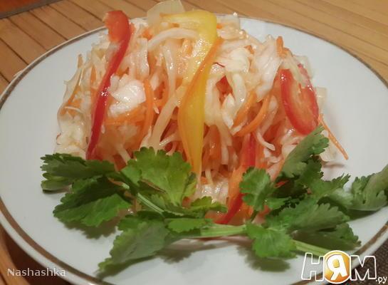 Рецепт Капуста маринованная с болгарским перцем