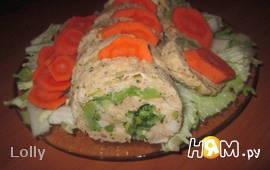 Куриный рулет с капустой брокколи