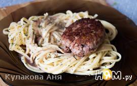 Котлеты мясные с фасолью