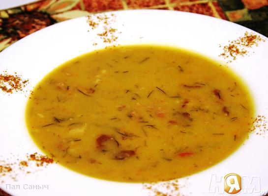 Рецепт Гороховый крем-суп на копченных ребрышках