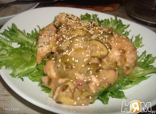 Курица по Китайски с фейхоа