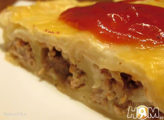 Рецепт Каннеллони с фаршем и грибами