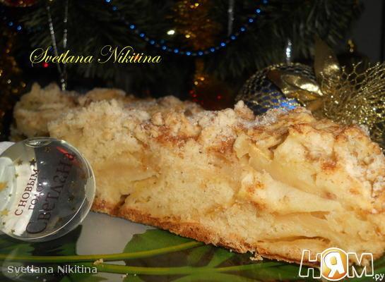 Рецепт Ирландский пирог с яблоками к Рождеству